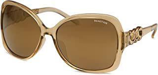 Kenneth Cole Reaction Plastic Crystal Rectangle Sunglass, Gradient Lens KC1252 27G