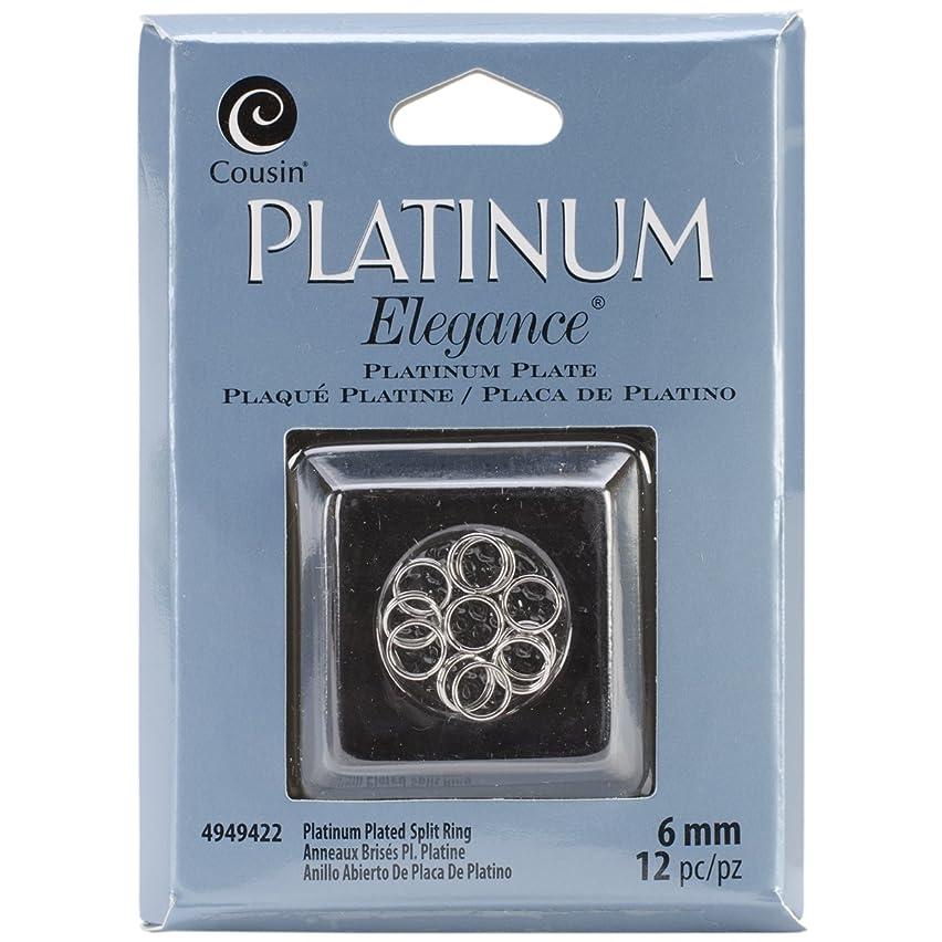 Cousin Jewelry Basics Platinum Plate 6mm Split Ring, 12-Piece