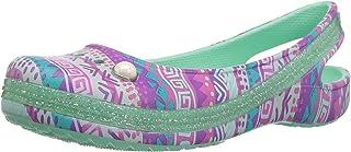 6e0b8db22996a3 Crocs Kids  Genna II Graphic Sparkle Sling-Back Flat