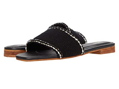 KAANAS Jamaica Handwoven Sandals with Braid (Black) Women