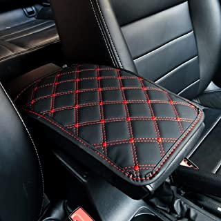 Cotree Auto Center Console Cover,Universal Car Armrest Cover,Waterproof Console Cover Seat Box Cover Protector,PU Leather ...