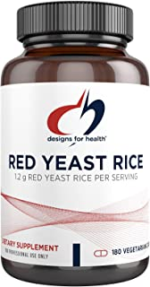 Designs for Health Red Yeast Rice Capsules - 1200mg (1.2g) Organic RYR to Support Cardiovascular Health + Maintenance of L...