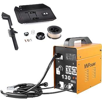MVPOWER Trafo-Schweißgerät MIG130 Elektrodenschweißgerät Profi Elektroden Schweißmaschine 120A 230V inkl. Draht