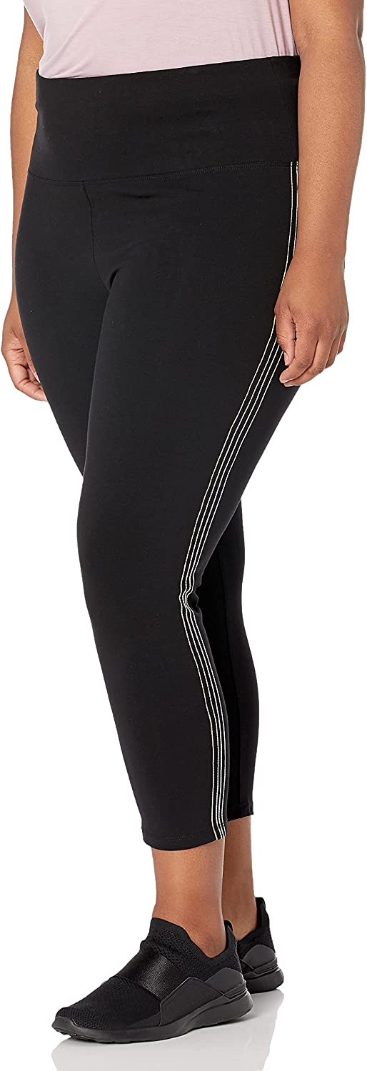 Marc New York Performance Women's 7/8th Cotton-Spandex Legging with Decorative Side Stitching
