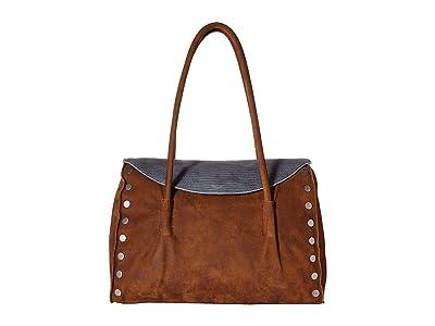 Hammitt Shawn Large (Slate Tejus/Arches Buffed/Brushed Silver) Handbags