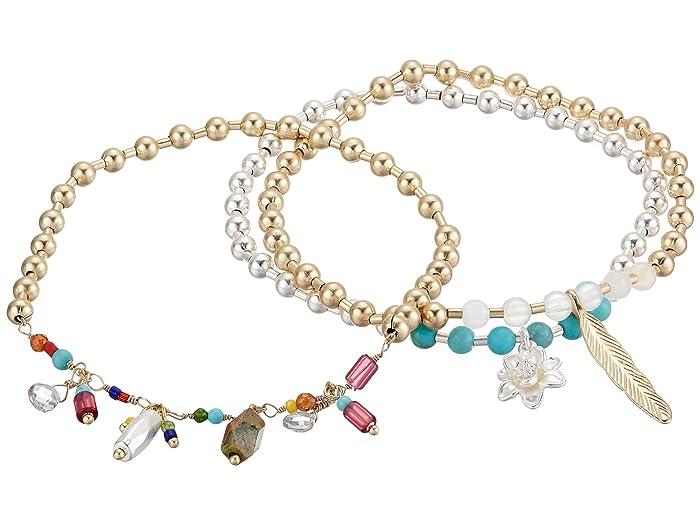 Lucky Brand  Beaded Charmed Bracelet (Two-Tone) Bracelet