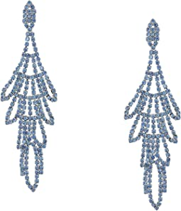 Rhinestone Chandelier Drop Earrings Sapphire
