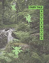 """Fairy Tale Notebook: Fairy Forest Cover Green Color 8.5x11"""" 100 Pages Blank Lined Composition Fairies Tale Book - Large Si..."""