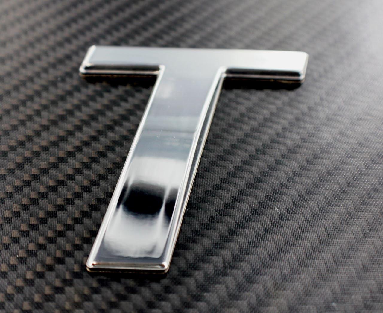 3 Letter L, Chrome Emblem Marine Grade Sport Style Chrome /& Flat Black Emblem Lettering