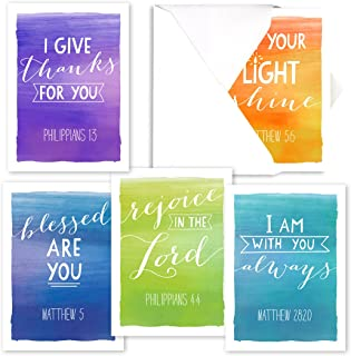 Encouragement Note Card Assortment Pack - Set of 25 cards - 5 of each design, blank inside - with envelopes