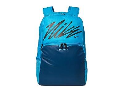 Nike Brasilia XL Backpack Graphics (Laser Blue/Valerian Blue/Black) Backpack Bags