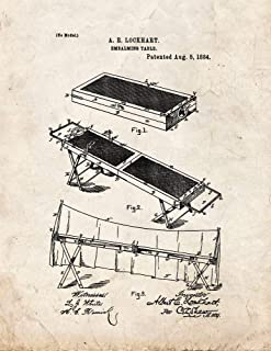 Embalming Table Patent Print Old Look (5