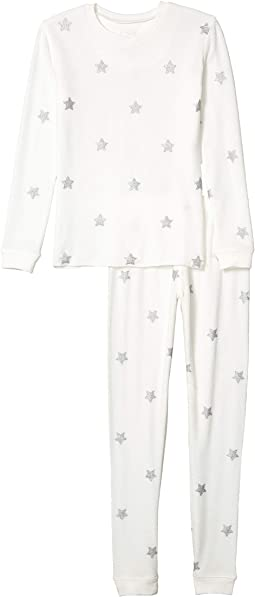 Silver Star Peachy Two-Piece Jammie Set (Toddler/Little Kids/Big Kids)
