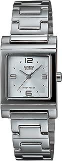 Casio LTP-1237D-7A Reloj Análogo de Vestir para Mujer, color Blanco/Plata