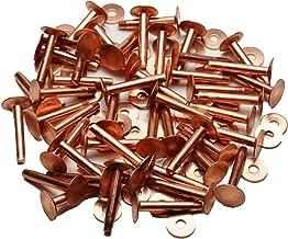 ビーズ屋公ちゃん。オリジナル コッパーリベット(銅製リベット)(Copper Rivet)#9×1インチ 50セット