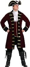 Plus Size Deluxe Captain Hook Costume Men's Pirate Costume
