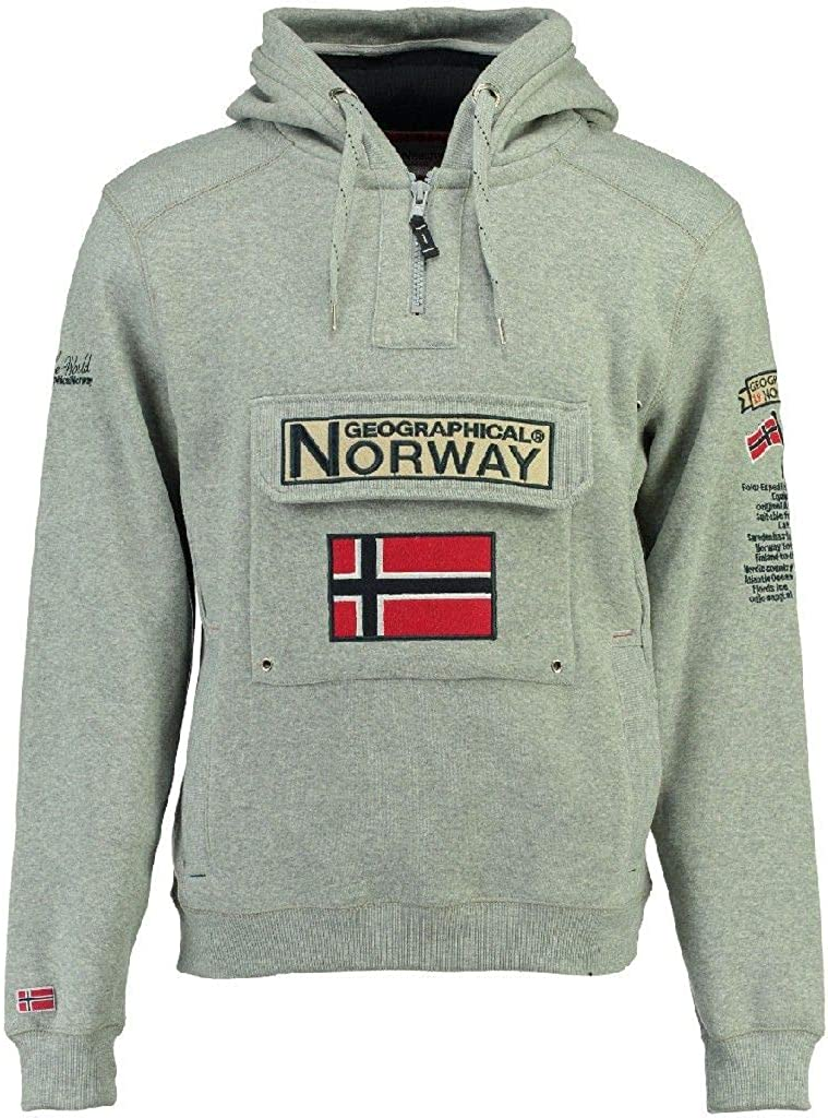 Hoodie Sport Regulier Sweat Capuche Poche Kangourou Homme Sweat Shirt Hoody Chaud Manches Longues Sweatshirt Logo Homme Pull Hood Veste Geographical Norway GYMCLASS Men
