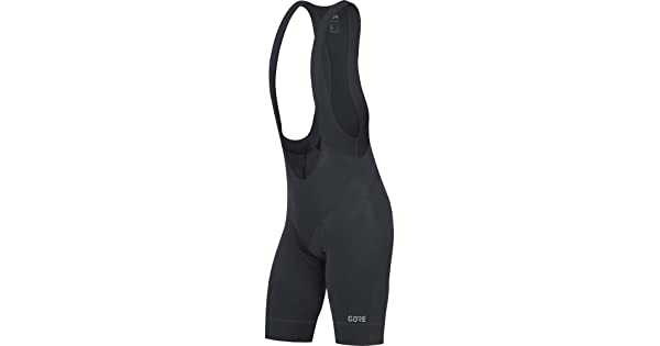 Size: M GORE Wear C5 Bib Shorts + GORE Wear Mens Breathable Road Bike Bib Shorts with Seat Insert 100192 Color: Black//White