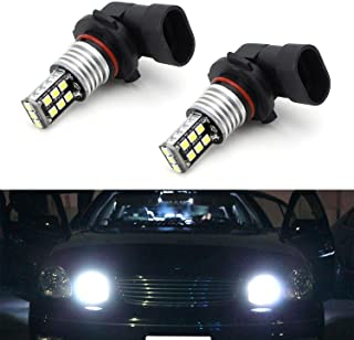 iJDMTOY Xenon White 15-SMD High Power 9005 HB3 LED High Beam Daytime Running Light Kit w/Decoder, Wirings For Early Gen Lexus IS GS RX, Mazda CX-5 Mazda3 Mazda6, etc