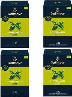 4 x Dallmayr Pfefferminze Bio Kräutertee 20 Tee Pyramiden x 1,75g