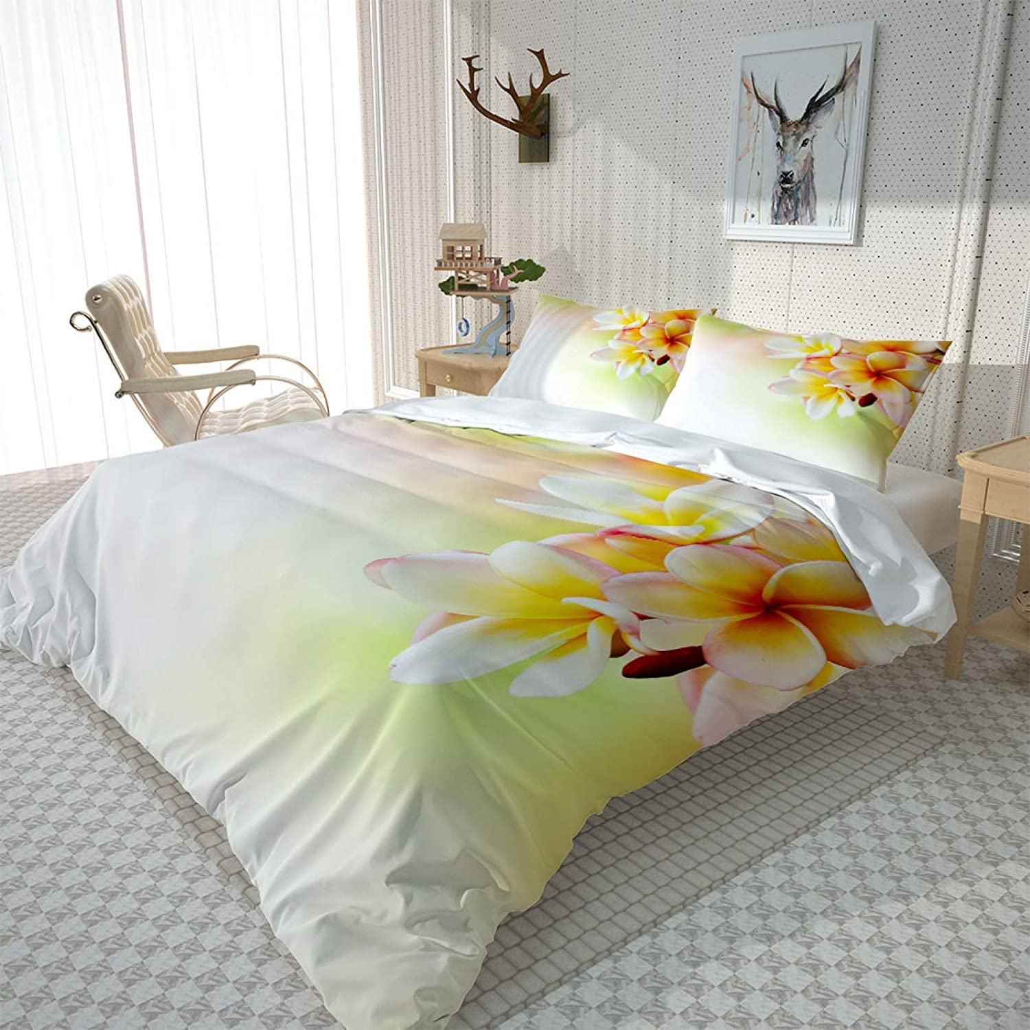 HKDGHTHJ 3D Bedding overseas is Super Yellow Branded goods Soft and Flower Comfortable