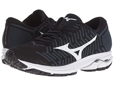 Mizuno Wave Rider 22 Knit (Black/Ombre Blue) Girls Shoes