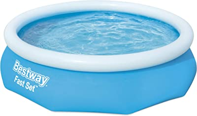 Bestway 57266-19 Round Kids Inflatable Pool, 10 ft, Fast Set
