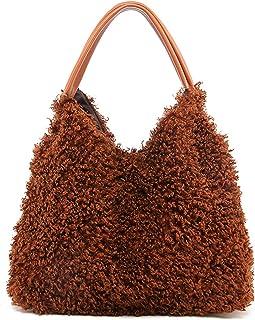 Travistar Handtasche Damen Umhängetaschen, Pelzig Modischer Modestil Tasche Für Arbeit Schule Shopper Lässige Täglich