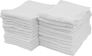 S&T INC. 593901 White 24pk Cotton Terry Cleaning Towels, 24 Pack