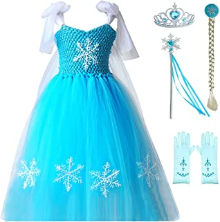 Princess Cinderella Snow White Aurora Mermaid Anna Jasmine Costume Toddler Girls Tutu Dress Up Halloween