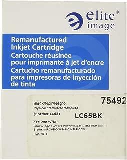 Elite Image ELI75492 Compatible Ink-Jet Replaces Brother LC65BK, Black