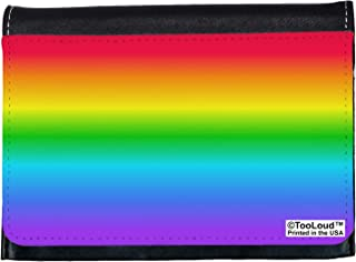 TooLoud Horizontal Rainbow Gradient Ladies Wallet All Over Print