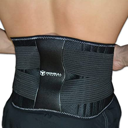 Iron Bull Strength Medi-Back Brace with Integrated Thermal Action - Lumbar Support Belt for Instant Lower Back Pain Relief! Back Braces for Sciatica, Scoliosis and Herniated Disc
