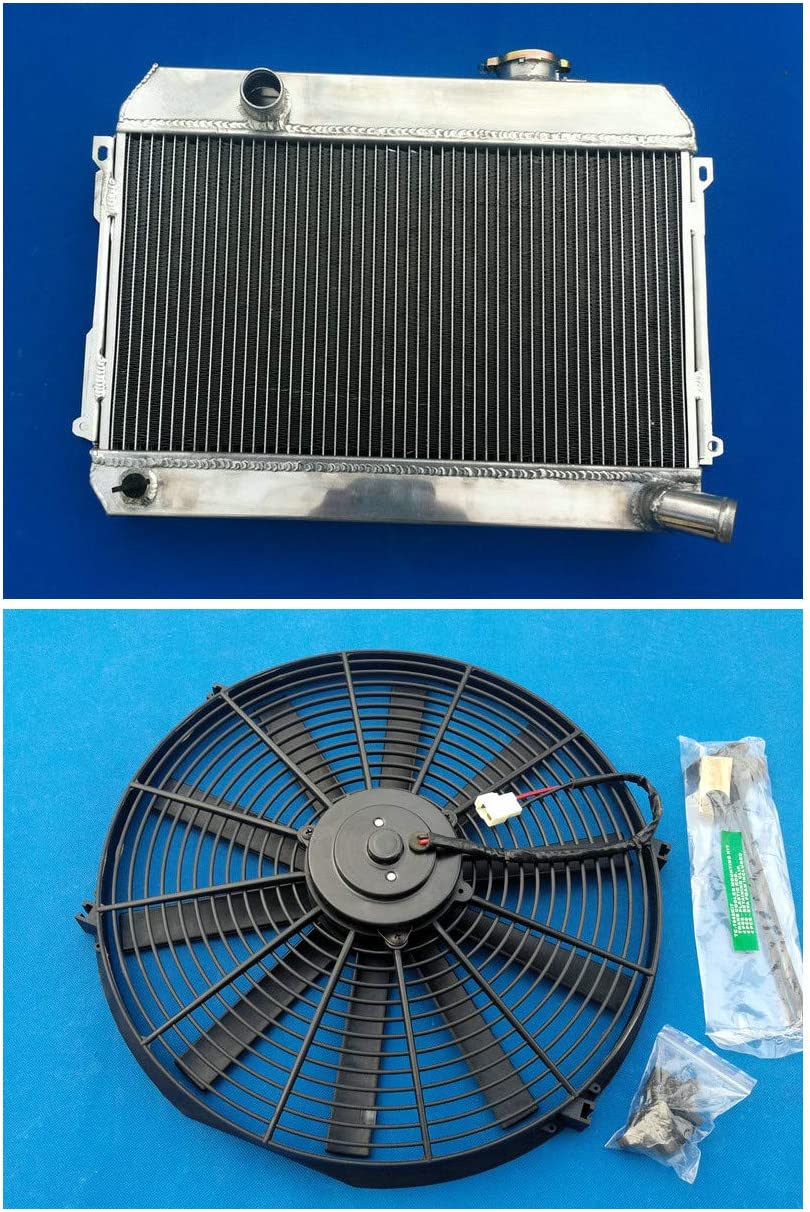 Aluminum Directly managed store Radiator+Fan For Datsun 510 521 620 1.6 25% OFF L4 Pickup 1968-
