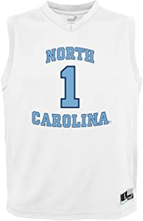 NCAA by Outerstuff NCAA North Carolina Tar Heels Youth boys Chase Basketball Jersey, White, Youth Large(14-16)