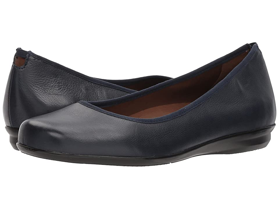 Earth Ennis Earthies (Navy Premium Leather) Women