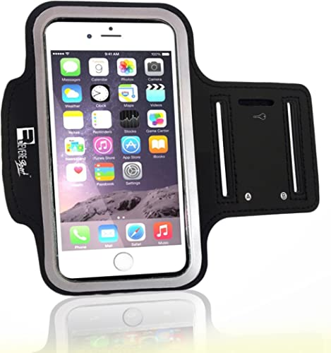 Premium iPhone SE 2020 Running Armband with Fingerprint ID Access. Sports Phone Arm Case Holder for Jogging, Gym Work...