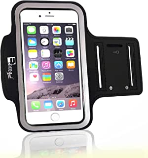 Premium iPhone 8 Running Armband with Fingerprint ID Access. Sports Phone Arm Case Holder for Jogging, Gym Workouts & Exercise