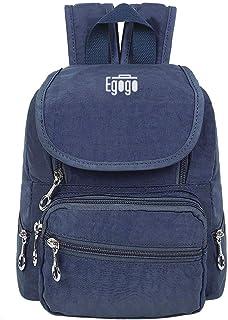Bolso Mochila Escolares Mini Mochila Nailon Casual para Mujer Chica Niña Impermeable, Ligera y Resistente E530-2 (Azul)