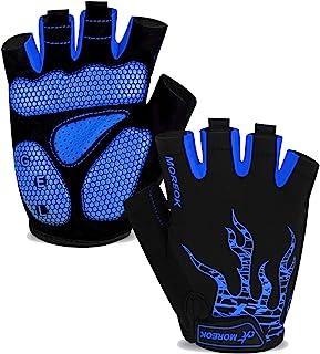 MOREOK Mens Cycling Gloves,Half Finger Biking Glove MTB...