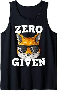 Zero Fox Given Fox With Glasses Fox Lovers Pun Tank Top