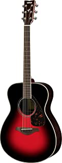 Yamaha FS830 Small Body Solid Top Acoustic Guitar, Dusk Sun Red