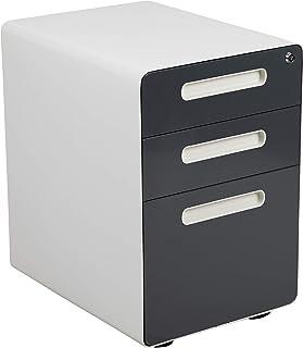 Flash Furniture Ergonomic 3-Drawer Mobile Locking Filing...