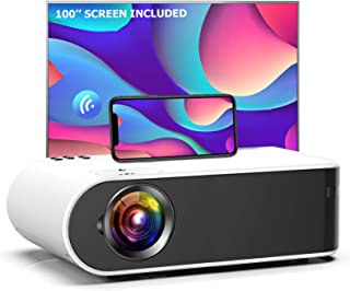 Mini Projector, GooDee W18 WiFi Movie Projector with Synchronize Smartphone Screen with 1080P Support and 200'' Video Proj...