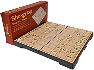 fengshuisale Magnetic Japanese Chess Game Set with Wooden Board Table Drawers and Traditional Game Pieces W3170