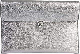 Alexander Mcqueen Women's 554197CSS3I1300 Grey Leather Clutch