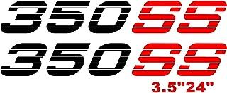350 SS Decals Side Bed Sticker for Chevy Trucks Silverado Vinyl Graphics