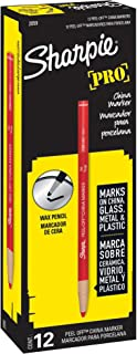 Sharpie 2059 Peel-Off China Marker, Red, 12-Pack