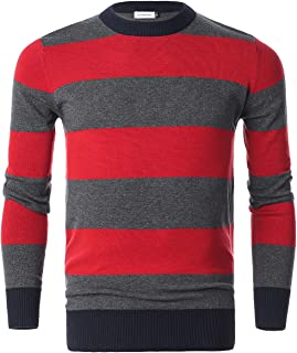red and green striped christmas sweater