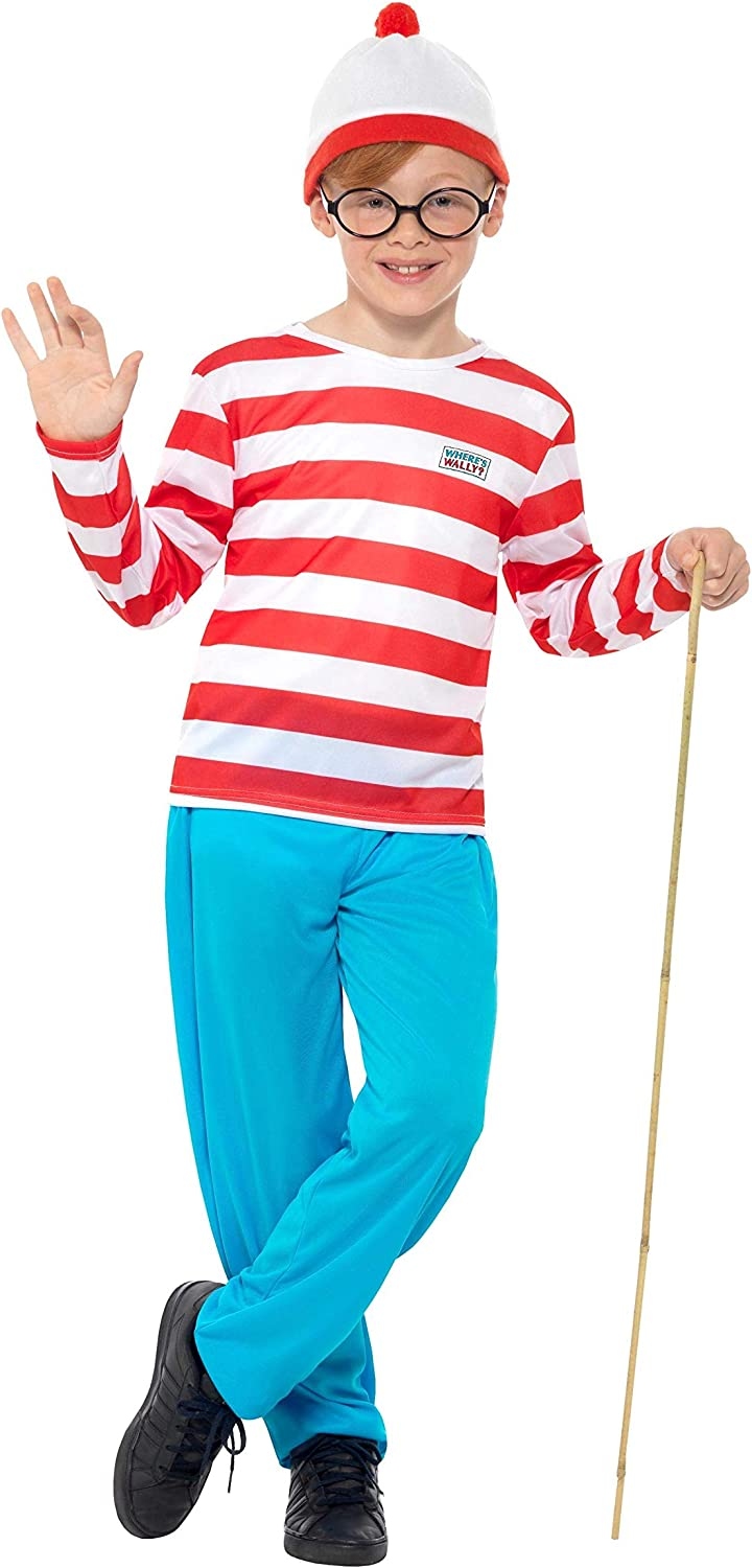 (1012 Years, Red)  Boys' Where's Wally.a,,c Costume
